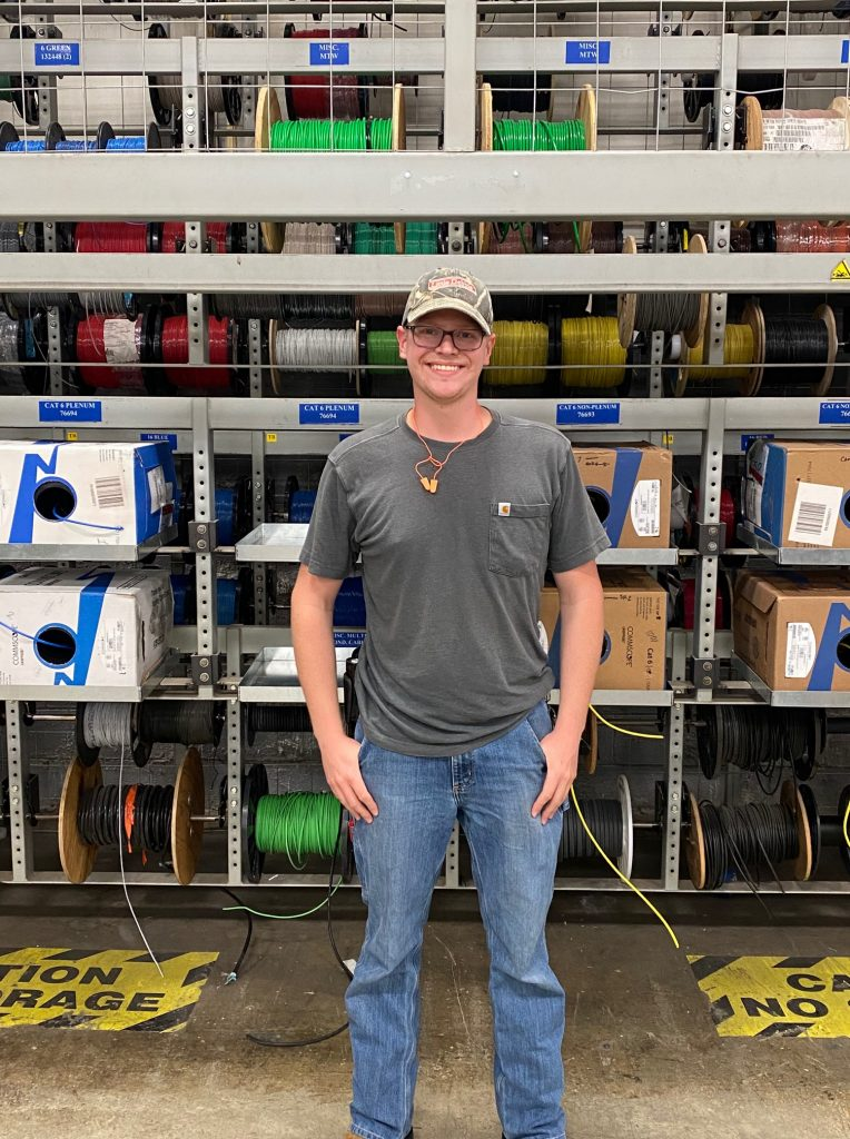 Nathan Missine, construction electrician with McKee Foods